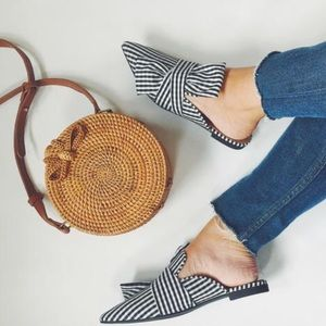 Gingham Print Bow Mules clearance!!